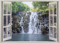 Murales Ventana abierta hacia cascada